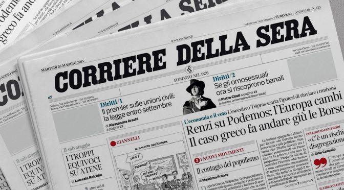 """le notizie e le non notizie del Corrierone (con una premessa di """"Senza bavaglio"""")"""