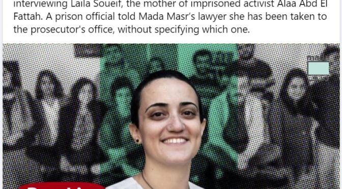 grave attentato alla libera stampa in Egitto