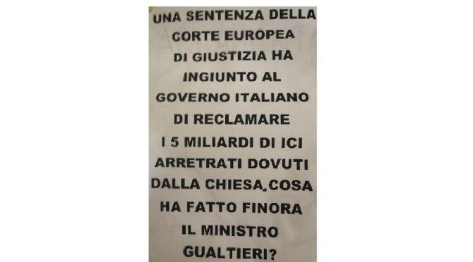 PERCHÉ GUALTIERI NON CHIEDE AL VATICANO DI VERSARE I MILIARDI CHE DEVE ALLO STATO ITALIANO? – UNA MANIFESTAZIONE DI CARLO TROILO