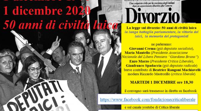 La legge sul divorzio: 50 anni di civiltà laica