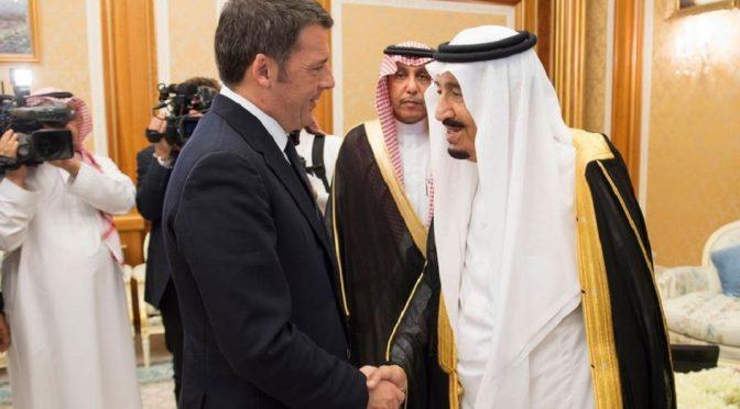 Il caso Renzi-Riad: sottomettersi o dimettersi (con una nota di e.ma.)
